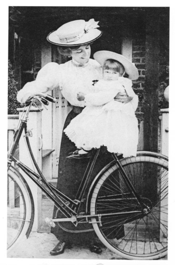 Mother and Child on a Bicycle