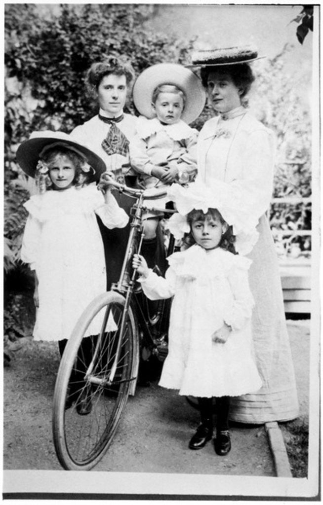 Detail of Family Group with Bicycle by English Photographer