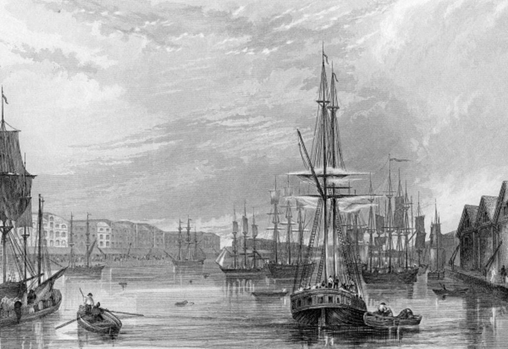 Detail of West India Dock by Francis William Topham