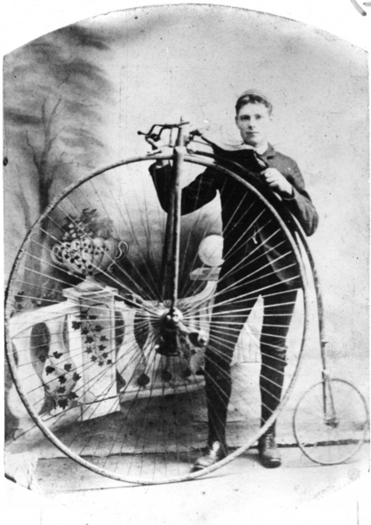 Young Man with a Penny-Farthing