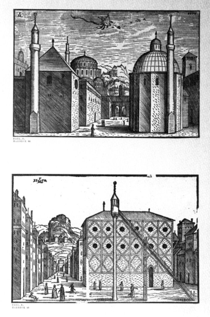 Detail of Streets and mosques of Constantinople by Melchior Lorck