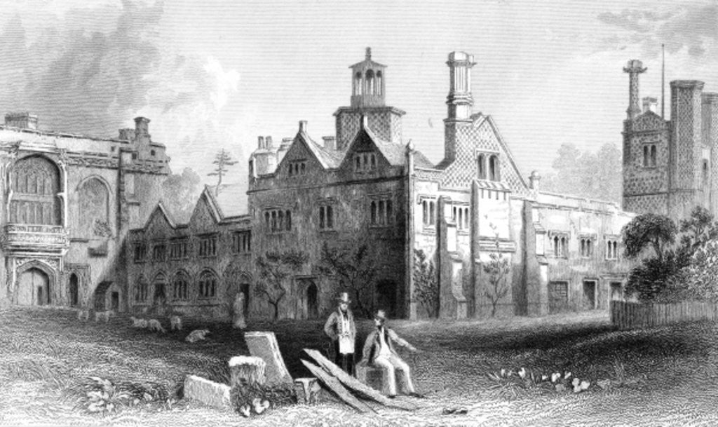 Detail of St. Osyth's Priory, Essex by William Henry Bartlett