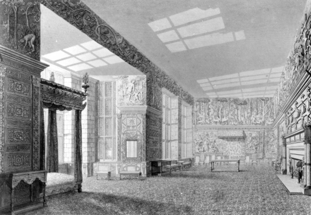 Detail of The High Great Chamber, Hardwick Hall by English Photographer