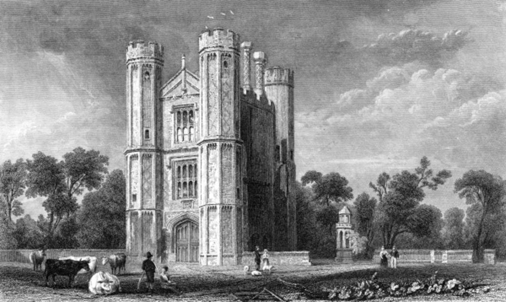 Detail of Leighs Priory, Essex by William Henry Bartlett