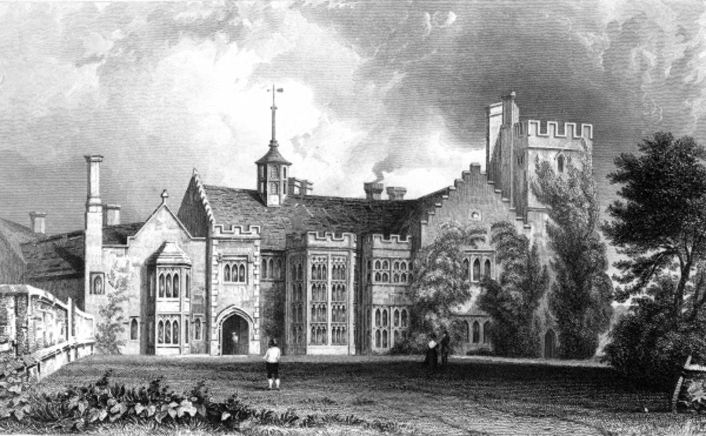 Detail of Horeham Hall, near Thaxted, Essex by William Henry Bartlett