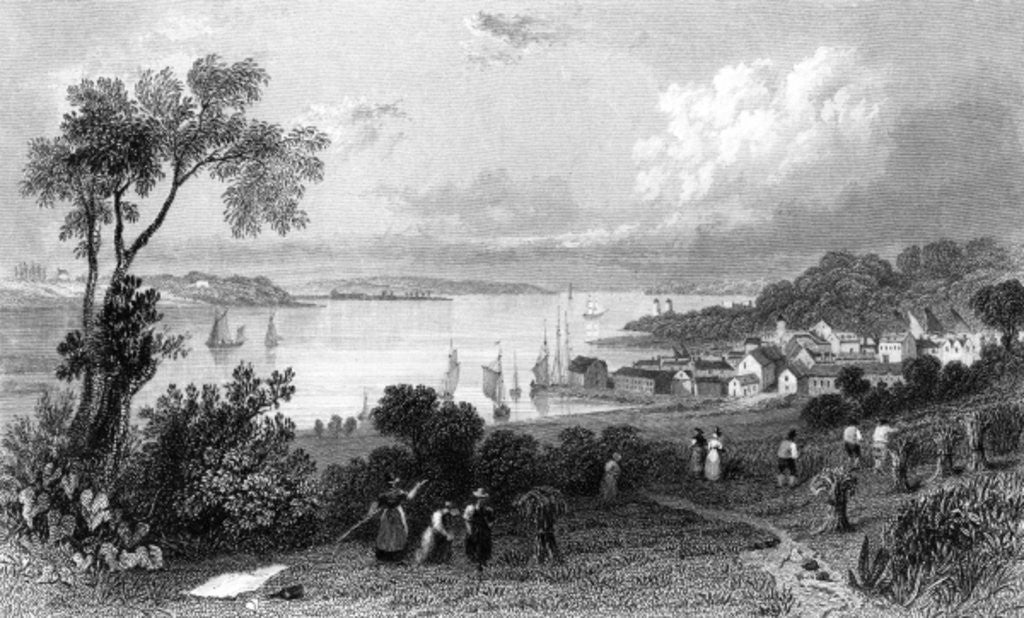 Detail of Manningtree, Essex by William Henry Bartlett