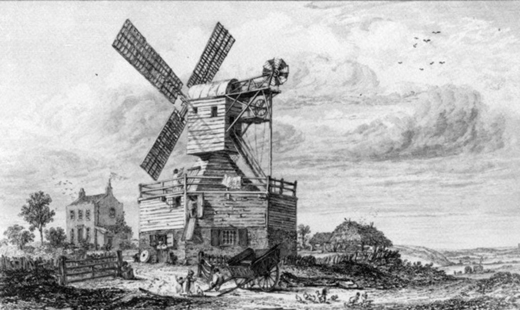 Detail of Mill on Wimbledon Common by George Cooke