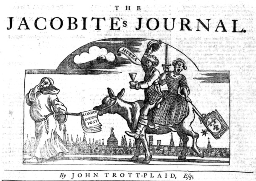 Detail of Title Vignette of 'The Jacobite's Journal' by William Hogarth