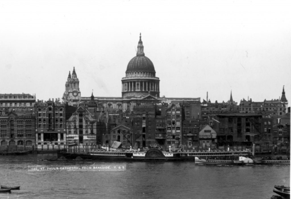 Detail of View of St. Paul's Cathedral from Bankside by English Photographer