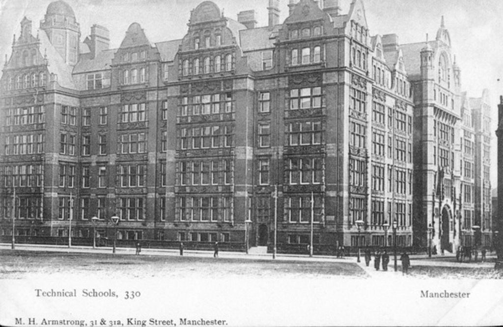 Detail of The Technical Schools, Manchester by English Photographer