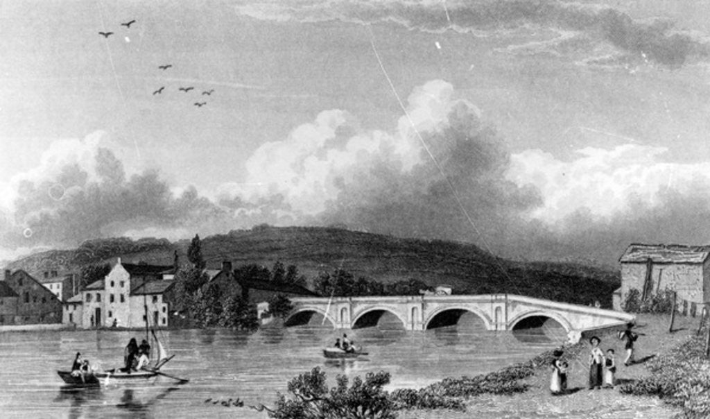 Detail of Strammongate Bridge, Kendal by William Westall