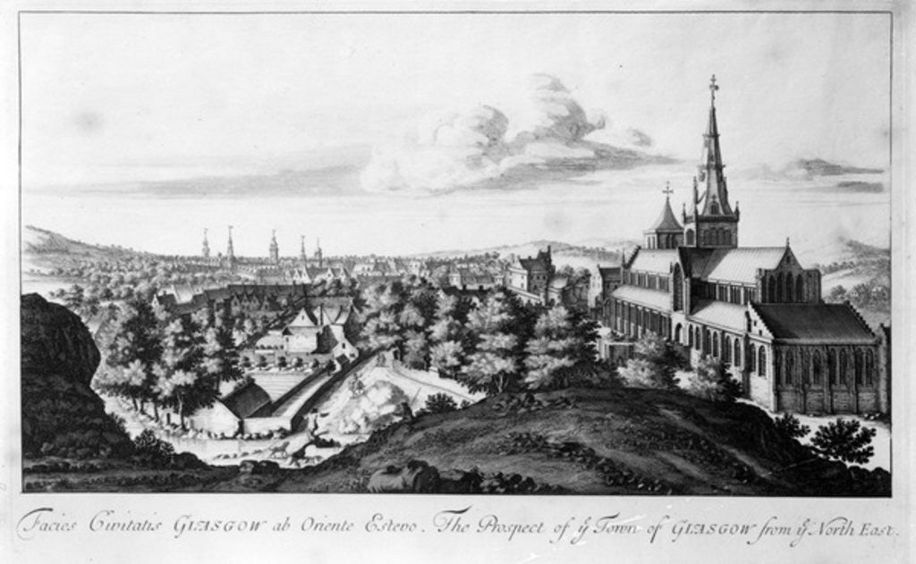 Detail of The Prospect of ye Town of Glasgow from ye North East by John Slezer