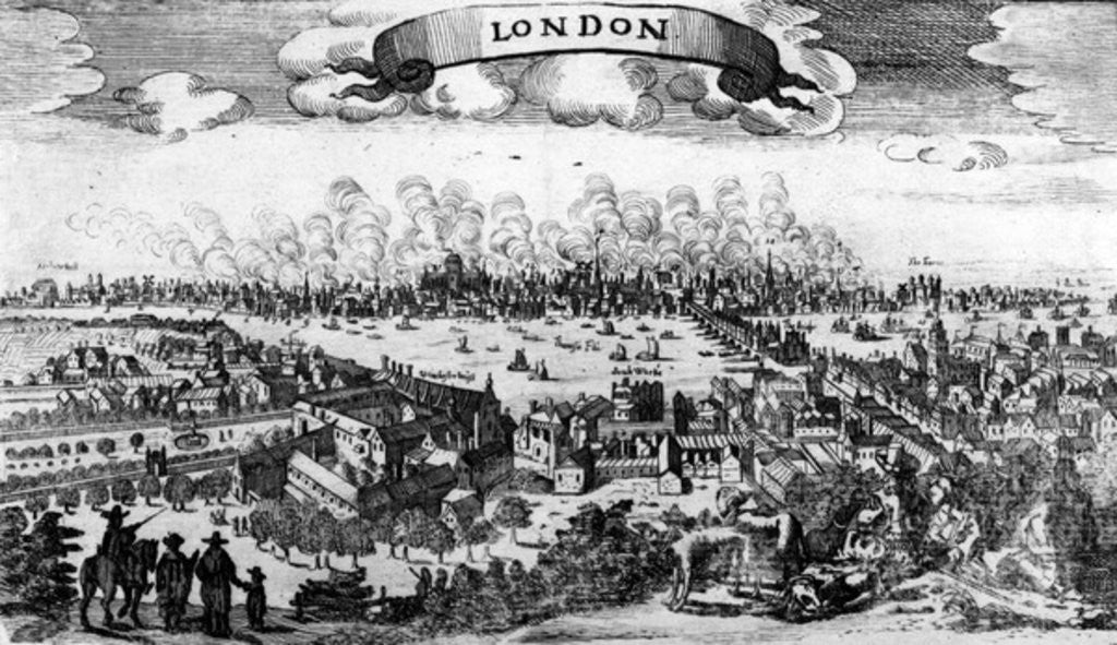 Broadside of the Great Fire of London by Pieter Hendricksz Schut
