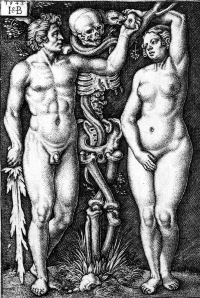 Detail of Adam and Eve by Barthel Beham