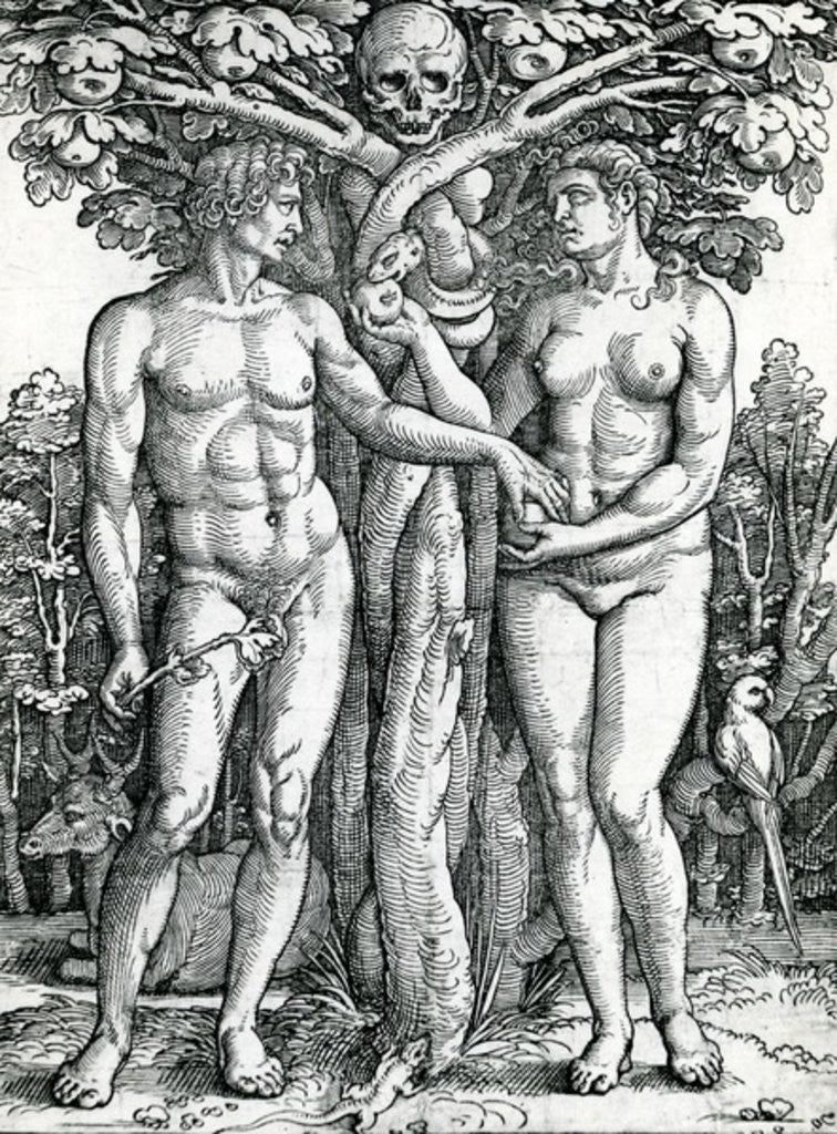 Detail of The Fall of Adam and Eve by Hans Sebald Beham