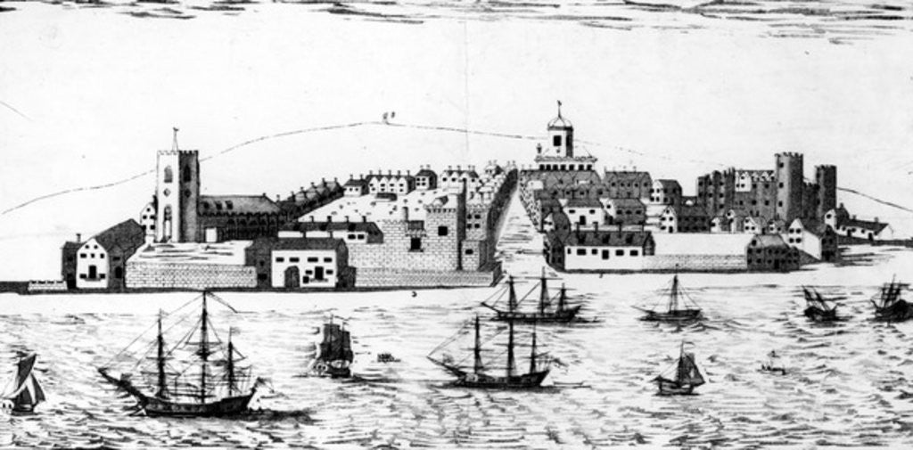 Detail of The West Prospect of the Town of Liverpool, as it appeared about the year 1680 by John Eyes Jnr