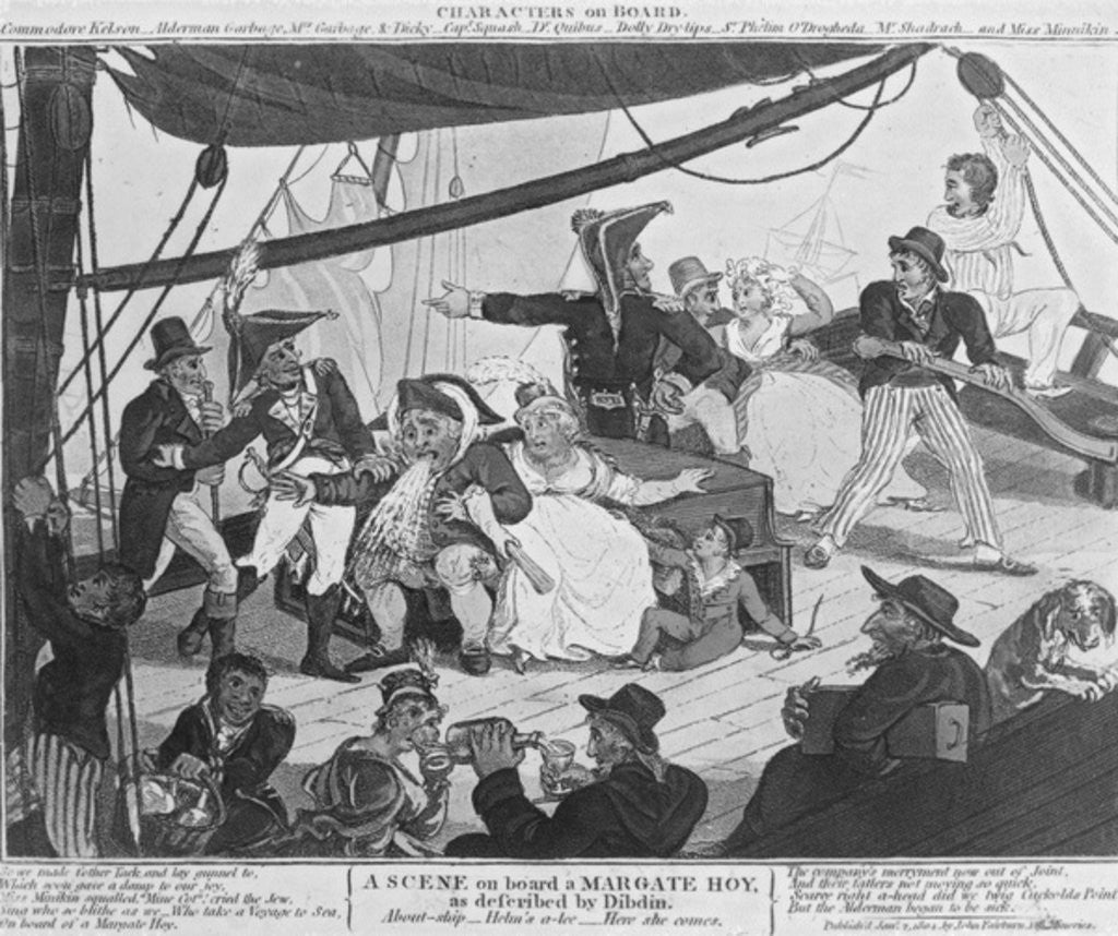 Detail of A Scene on board a Margate Hoy by English School