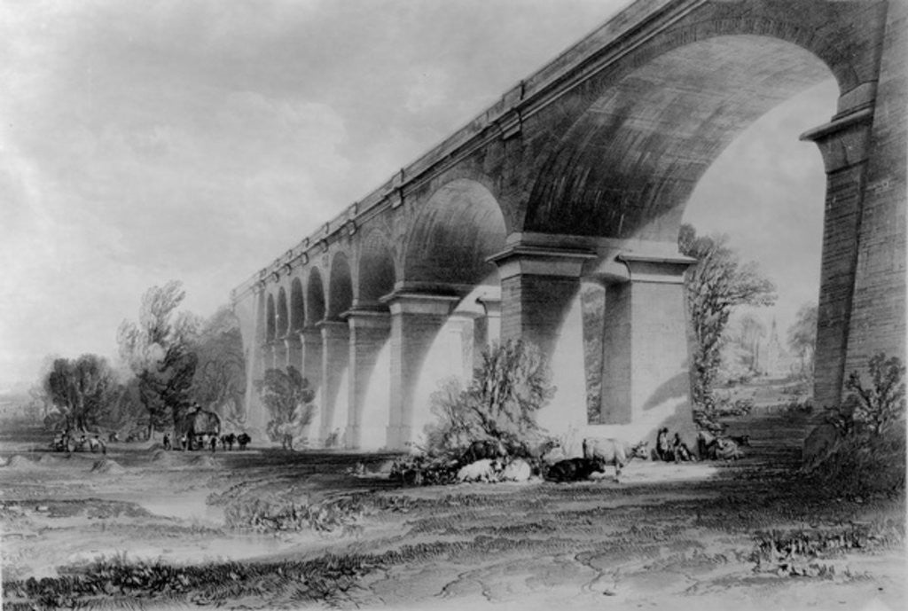 Detail of Wharncliffe Viaduct by John Cooke Bourne