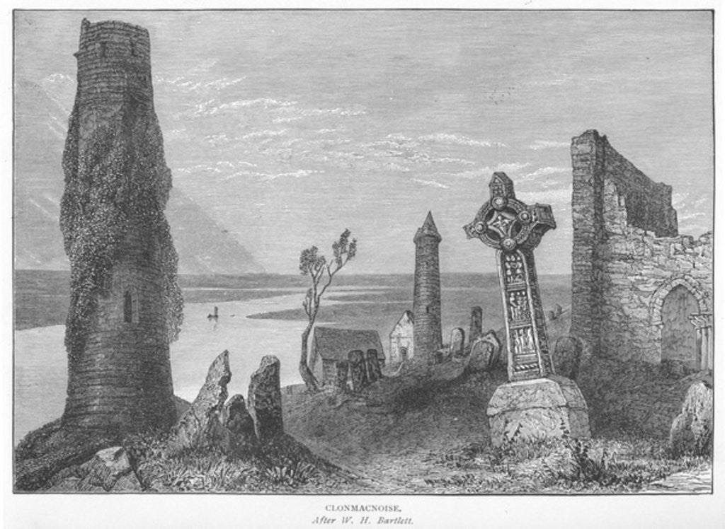 Detail of Clonmacnoise by William Henry Bartlett
