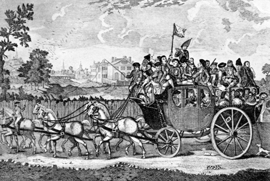 Detail of Going to Bury Fair by English School