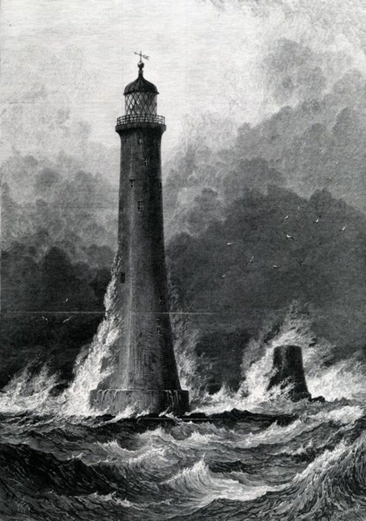 Detail of The Proposed New Eddystone Lighthouse by John Greenaway