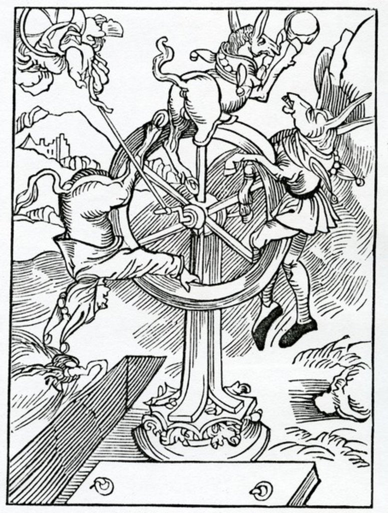Detail of Of the mutabylyte of fortune by from an edition published in 1874