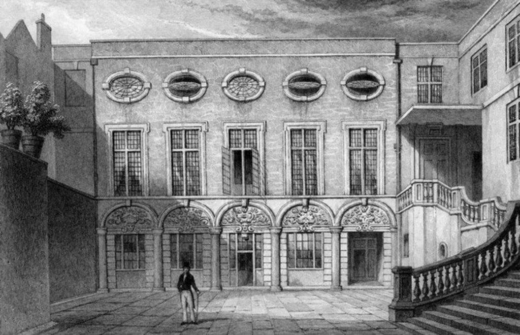 Detail of Brewers' Hall, Addle Street by Thomas Hosmer Shepherd