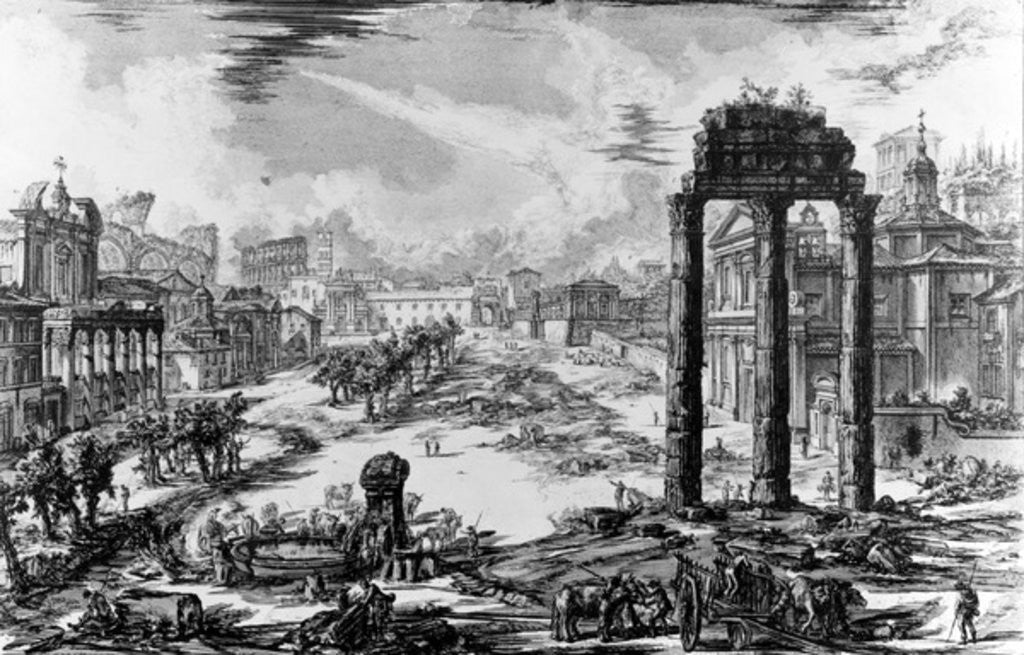 Detail of View of the Roman Forum by Giovanni Battista Piranesi