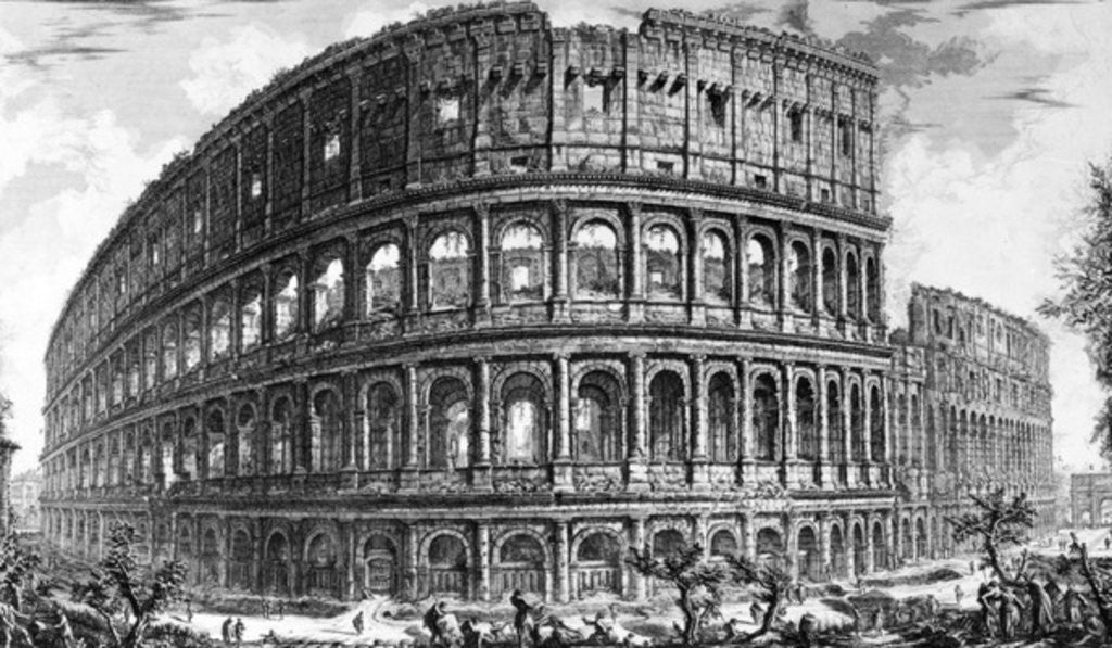 Detail of View of the Colosseum by Giovanni Battista Piranesi