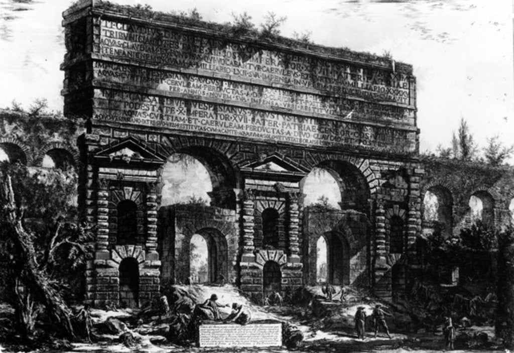 Detail of View of the Porta Maggiore by Giovanni Battista Piranesi
