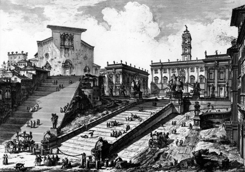Detail of View of the Capitoline Hill by Giovanni Battista Piranesi