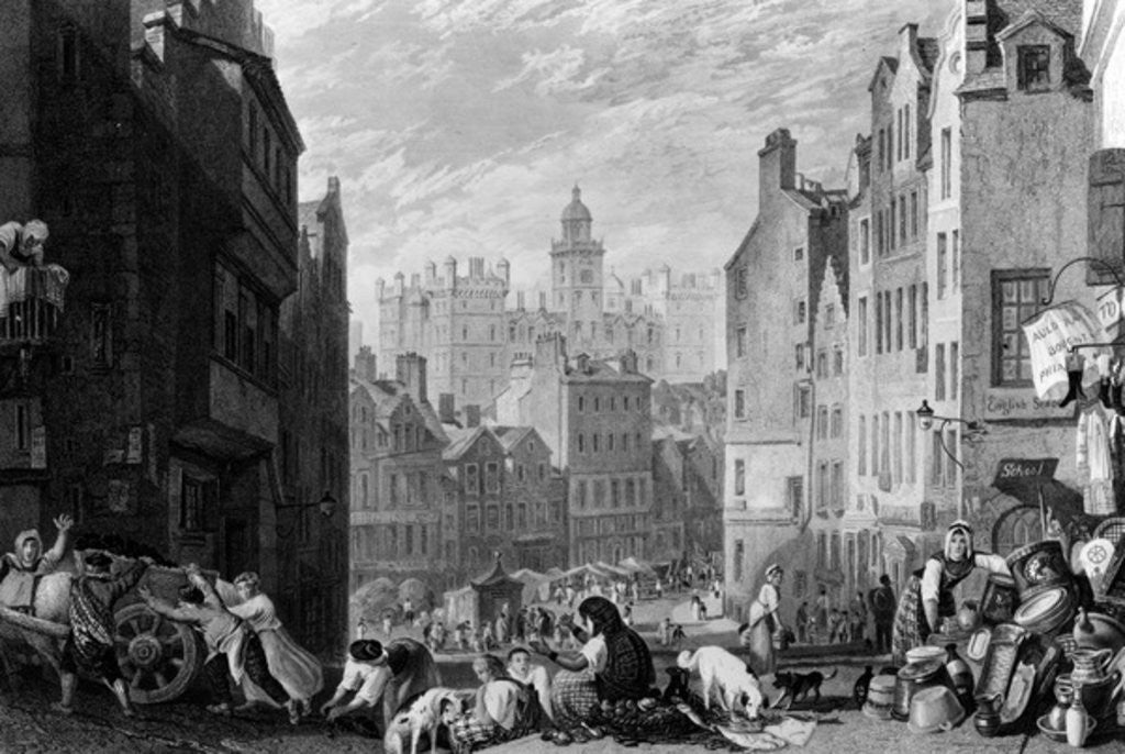 Detail of Heriot's Hospital, Edinburgh, engraved by Henry Le Keux by Joseph Mallord William Turner