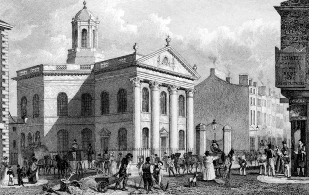 Detail of Unitarian Chapel, Paradise Street, Liverpool, engraved by J. Smith by English School