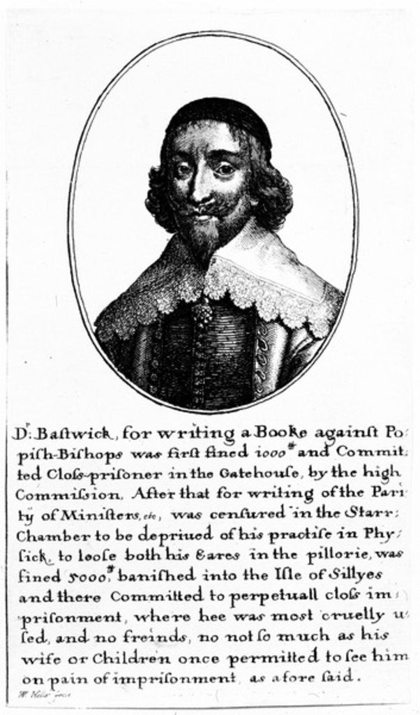 John Bastwick by Wenceslaus Hollar
