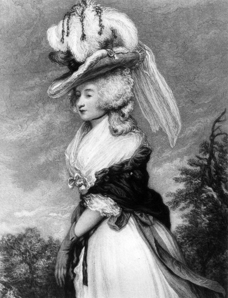 Detail of Lady Letitia Lade, mezzotint by Frederick Bromley by Sir Joshua Reynolds