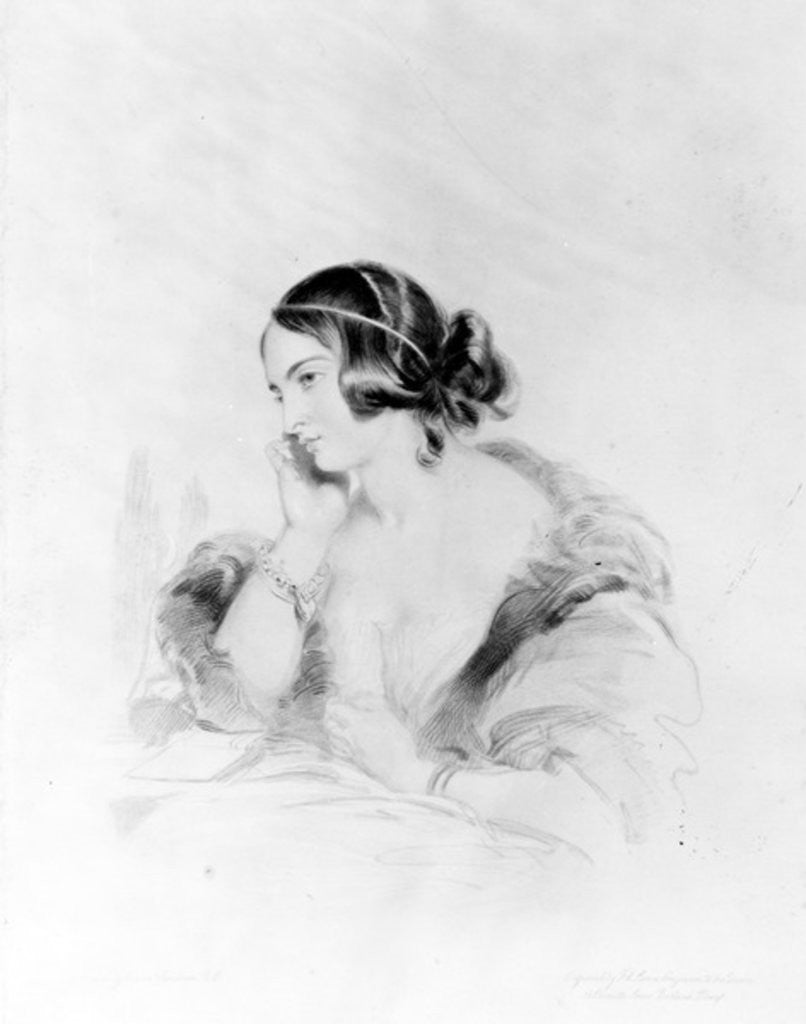 Detail of Caroline Norton, engraved by Frederick Christian Lewis by Sir Edwin Landseer