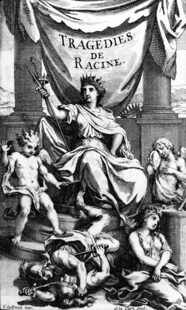 Detail of Title page to 'Tragedies de Racine' by Charles Le Brun