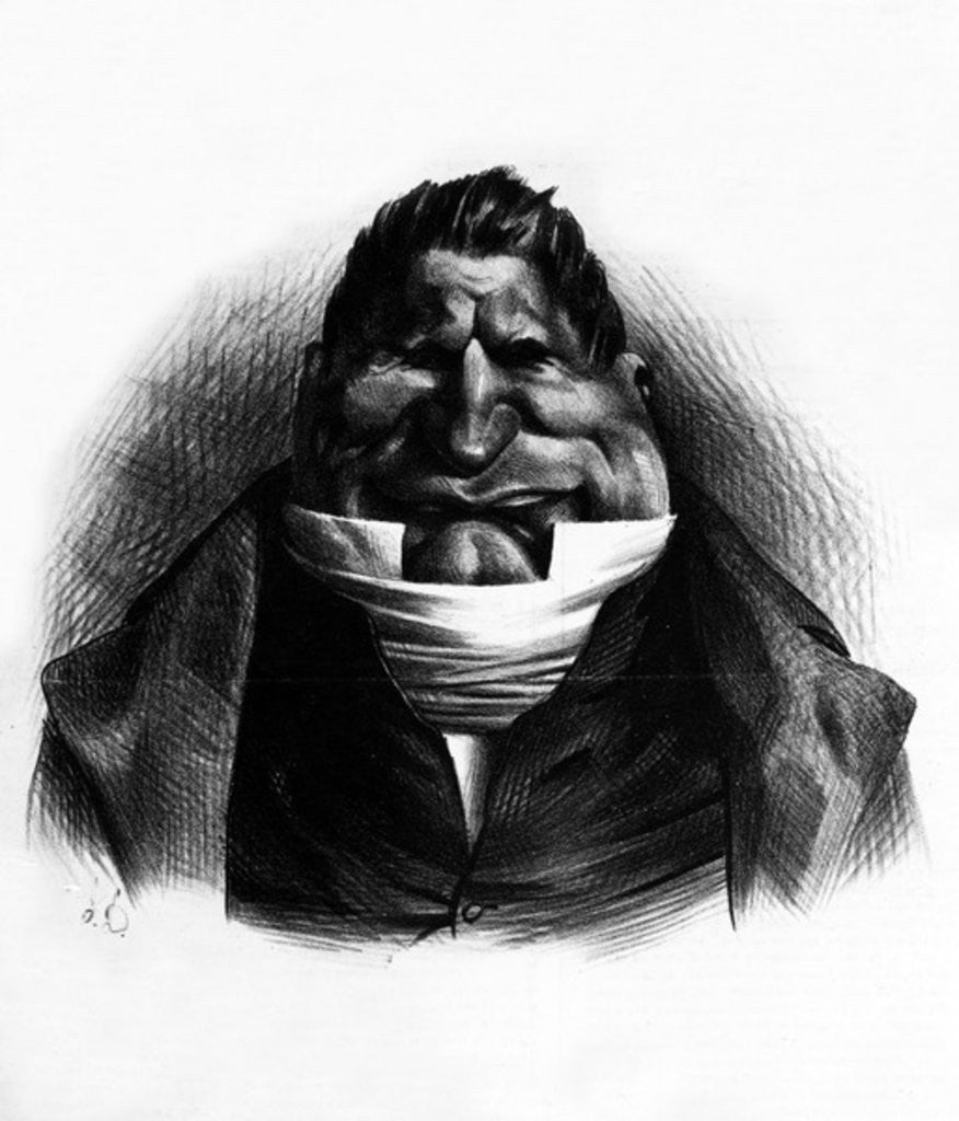 Detail of Pot-de-Naz, caricature from 'Le Charivari', May 2 by Honore Daumier