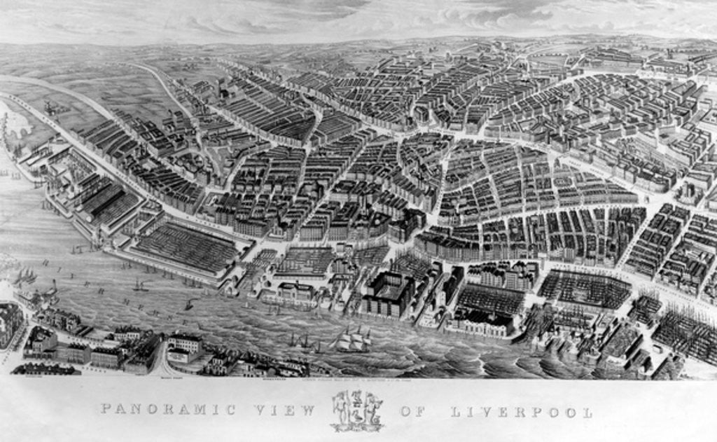 Panoramic View of Liverpool, after a watercolour by Ackerman