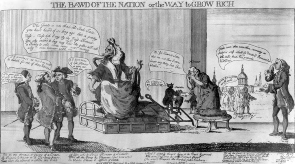 Detail of The Bawd of the Nation, or the Way to Grow Rich by English School