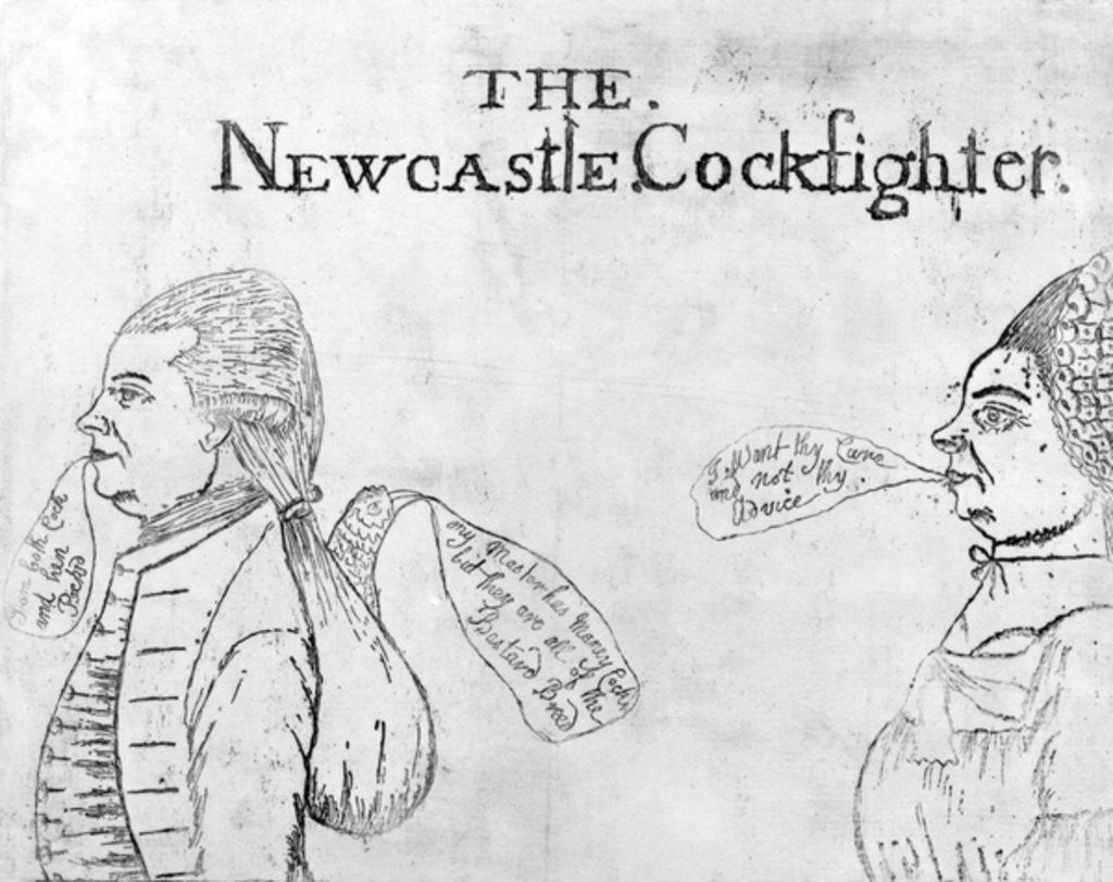 Detail of The Newcastle Cockfighter by English School