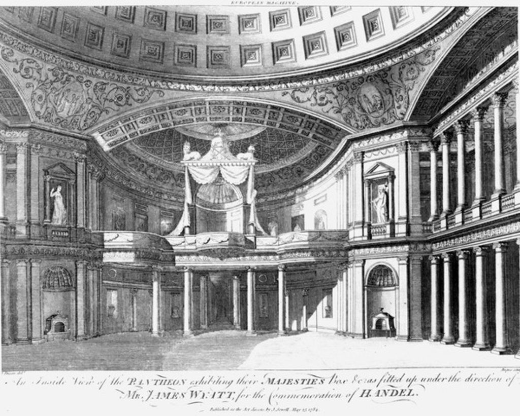 Detail of An inside view of the Pantheon, Oxford Street, London by John Dixon