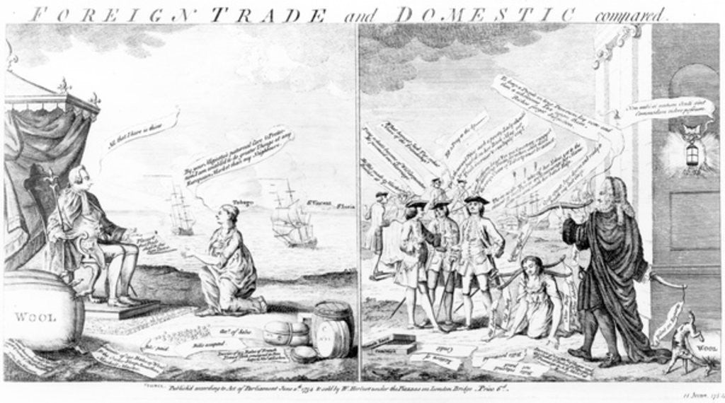 Detail of Foreign Trade and Domestic Compared, by William Herbert by English School