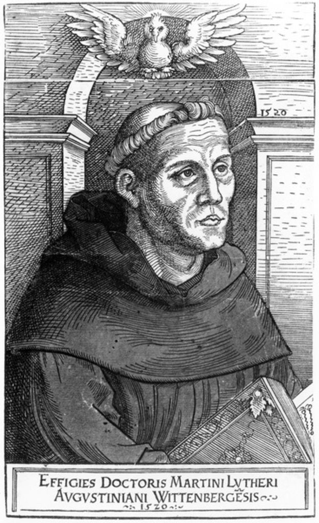Detail of Martin Luther as Augustinian Friar by Lucas the Elder Cranach