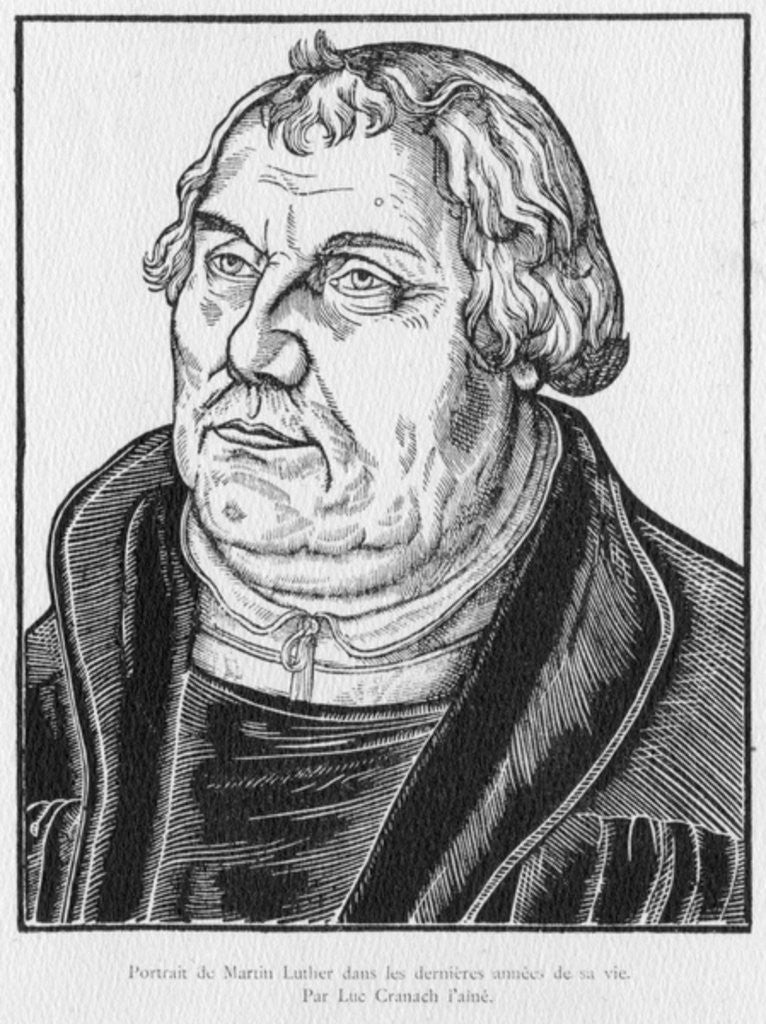Detail of Martin Luther by Lucas the Elder Cranach