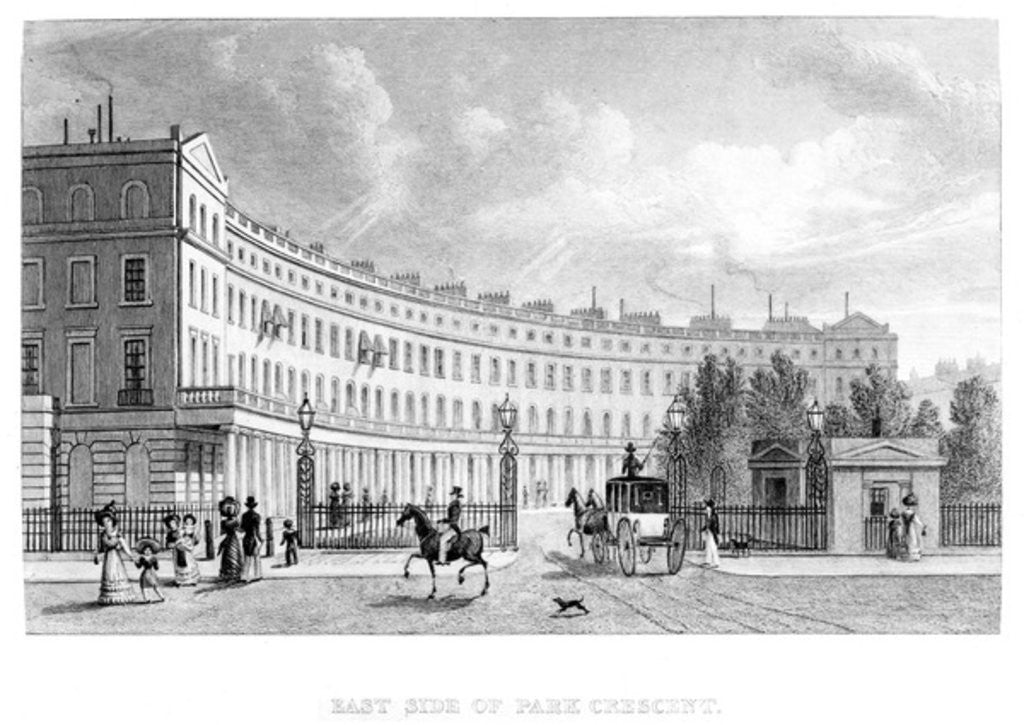 Detail of East Side of Park Crescent by English School