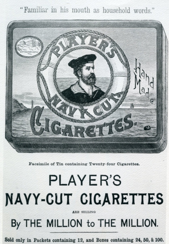 Detail of Player's Navy Cut Cigarettes by English School