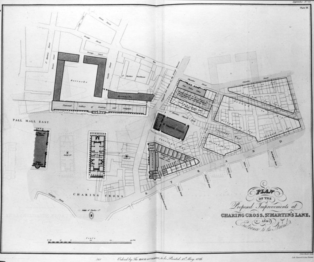 Plan of the Proposed Improvements at Charing Cross, St. Martin's Lane and Entrance to the Strand