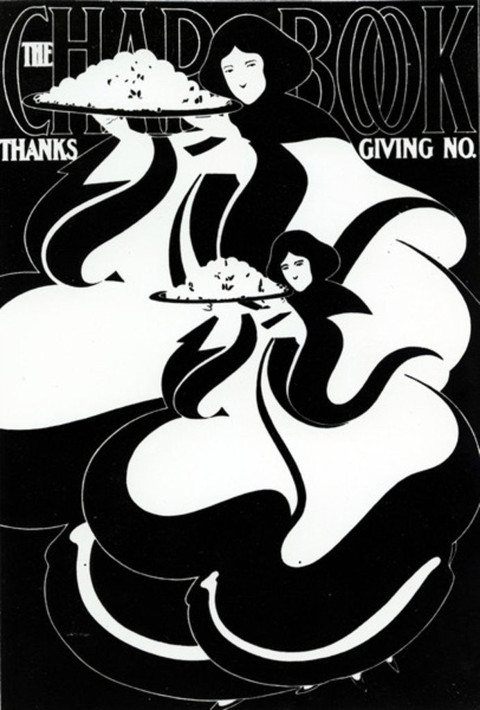 Detail of The Charbook Thanksgiving Front Cover by American School