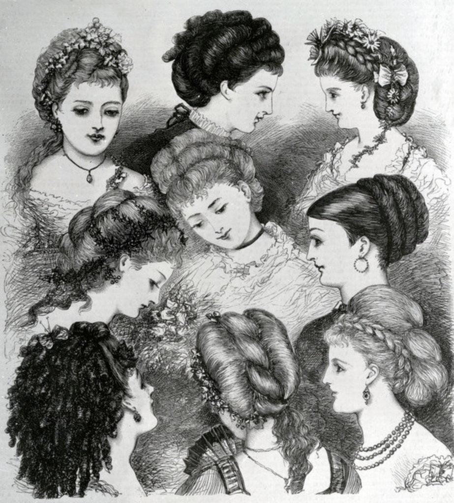 Detail of The Present Fashions in Hair by English School